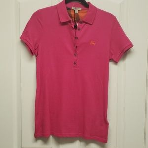Women's Burberry Button Down Polo Shirt